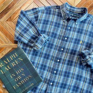 Ralph Lauren Classic Fit Brushed Cotton Flannel